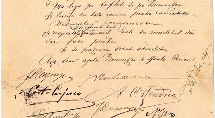 Un JURAMANT MISTERIOS a fost descoperit la Muzeul Literaturii Iasi! Din ce GRUPARE SECRETA facea parte ION CREANGA! FOTO1