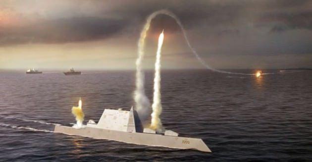 USS Zumwalt rendering