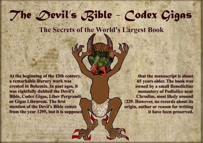 BIBLIA DIAVOLULUI contine cele mai nebanuite SECRETE ALE VIETII Cantareste 70 de kg si a fost scrisa de un calugar intr-o noapte sub indrumarea lui SATAN3