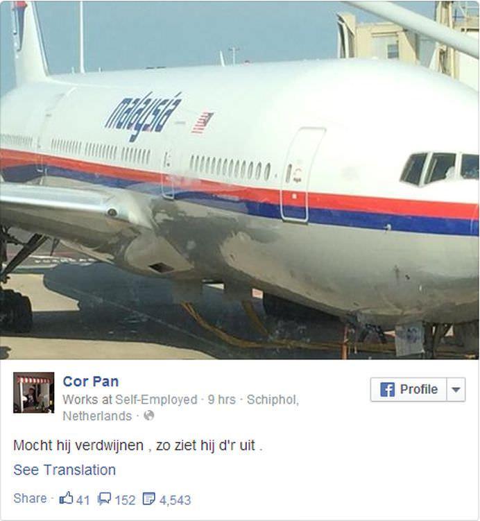 MESAJUL MACABRU lasat pe Facebook de un pasager din avionul Malaysia Airlines doborat de RACHETE! A simtit TRAGEDIA oare2