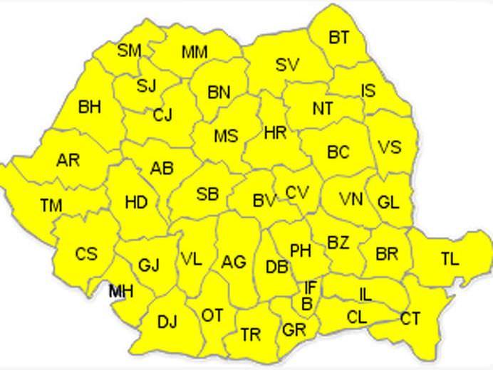 COD GALBEN DE CANICULA in toata Romania!2