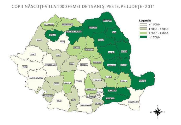 Cum arata HARTA MAMELOR din toata tara! POPULATIA ROMANIEI risca sa scada la 14 milioane in 2050!2
