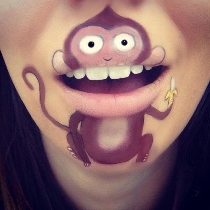 IMAGINI cu operele de arta de pe buzele unei tinere talentate de MACHIAJ PROFESIONIST!26