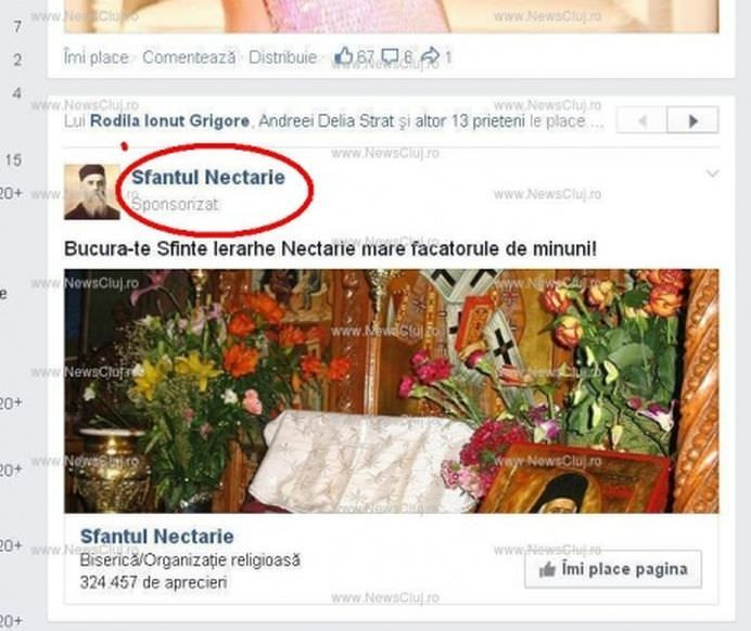 SCANDALOS Ce face BISERICA ORTODOXA ROMANA cu banii Isi promoveaza SFINTII pe Facebook!2