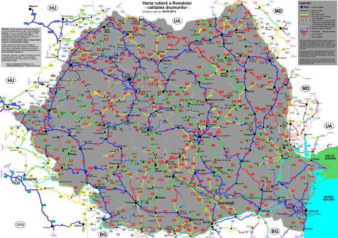 Daca esti SOFER trebuie sa vezi ASTA! Harta calitatii drumurilor din Romania!2
