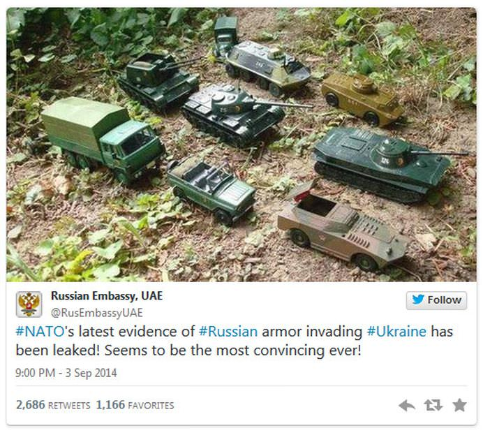 RUSIA ia in ras NATO cu TANCURI DE JUCARIE!2