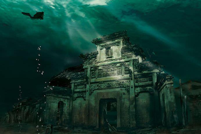 Si CHINEZII au ATLANTIDA lor! Un ORAS conservat la 40 de metri sub apa! VIDEO2