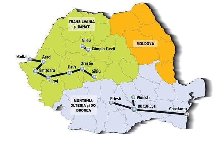 Ce trebuie sa stii despre scumpele noastre DRUMURI! Vezi HARTA AUTOSTRAZILOR in functie de regiunile istorice!2
